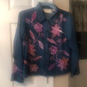 Jean Blouse Jacket Floral